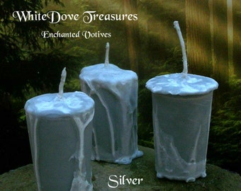SILVER SWORD Artisan Votive Candle - Full Moon Charged - Gift Box