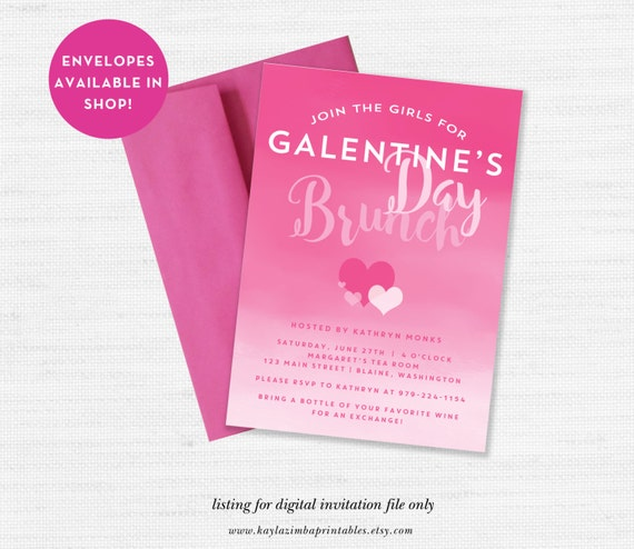 GalentineS Day Invitation ValentineS Day