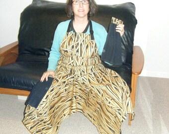 Pottery Apron Split Leg Panel Dark Prairie Grass Camouflage Black Towels