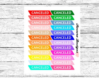 Canceled (Planner Stickers)
