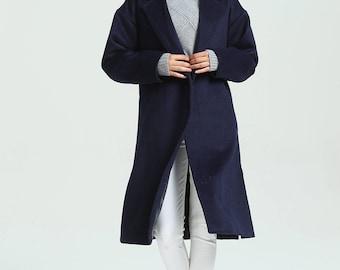 Women's oversized woolen coat loose wool jacket long warm coats large size coat plus size coat custom made coat M06