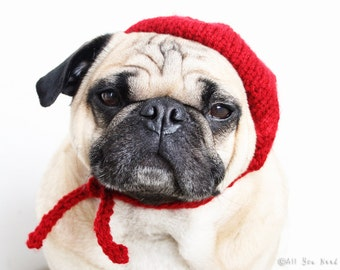 Petite French Beret Dog Hat - Pug Hat - Dog Hats - Pug Hats - Pet Clothing -Dog Fashion - Dog Clothing - Dog Costume - French Bulldog Hat