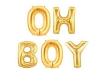 Gold Oh Boy Balloons, Balloon Garland, Gold Baby Shower Balloons, Baby Shower Garlands, Boys Baby Shower Decor, Baby Shower Party