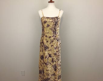 Velvet Party Dress Evening Dress Maxi Long Sleeveless Dress Burnout Velvet Spaghetti Strap Gold Purple Dress Medium Womens Clothing