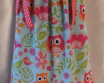 Pillowcase Dress:  Owls are in!!