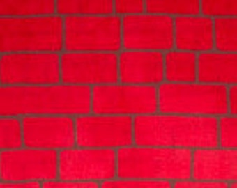 Great Wall from Riverwoods Fabrics for Troy Corporation - Full or Half Yard Modern Red Brick Fabric