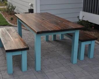 Reclaimed Farm House Table