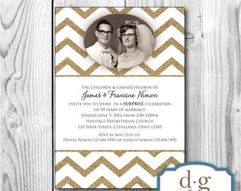 50th Anniversary Invitation, Anniversary Invitation, 50th, Anniversary, Wedding annversary, PRINTABLE