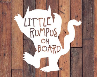 Decal | Baby on Board Decal | Little Rumpus on Board Decal | Little Rumpus on Board | Car Decal