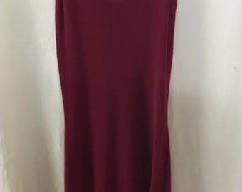 1980's  Red Stretch Dress, Size Small