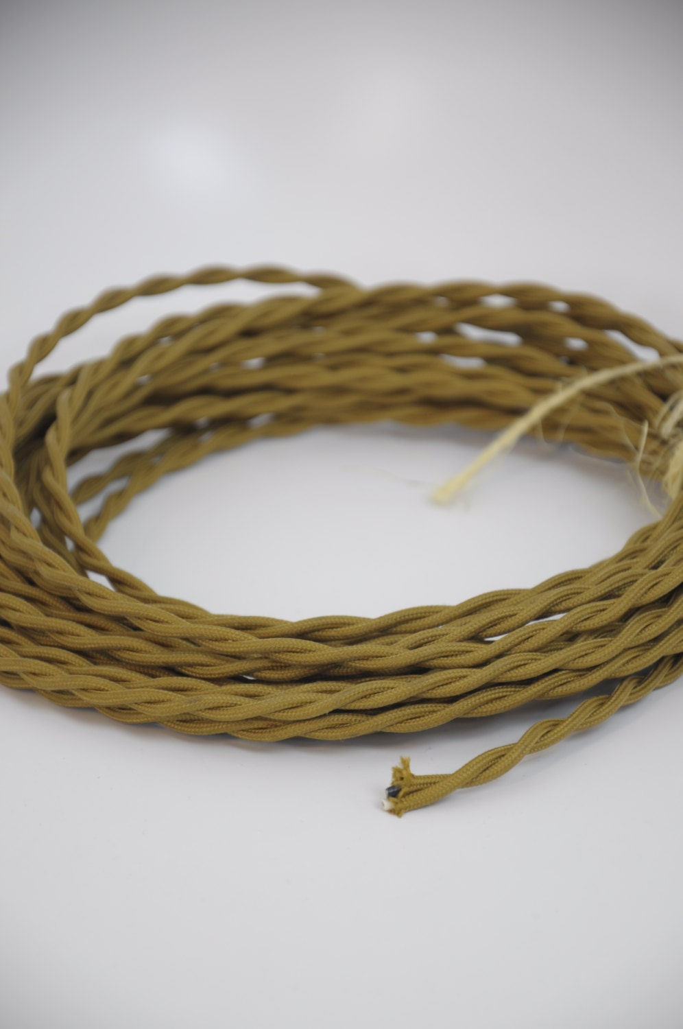 Twisted Cloth Covered Electrical Cord Wire LENGTH BY FOOT Copper ...