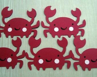 Cute Red Crab Scrapbook | Crab Embellishments
