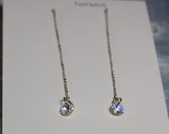 Swarovski Clear Crystal Drop Earrings