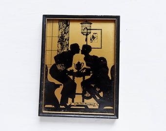 Wonderful Vintage Glass Art  - Wedding Gift - Our First Breakfast