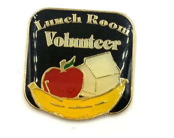VTG DeadStock Lunch Room Volunteer Lapel Pin