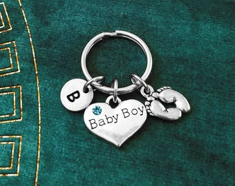 Baby Shower Keyrings ~ Baby boy keychain etsy