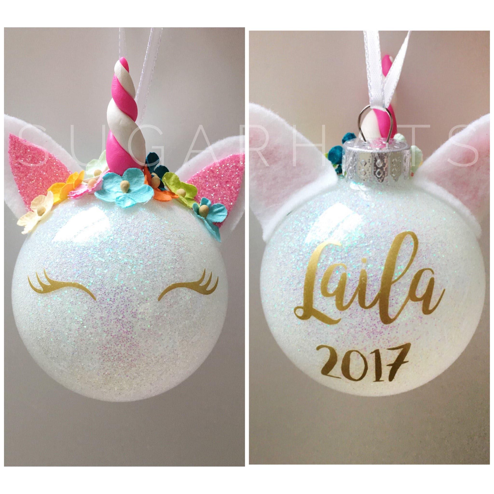 Diy Christmas Name Ornaments: Unicorn Christmas Ornament Personalized Christmas Ornament