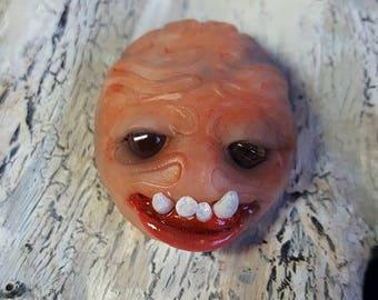 Pea Brains Pet Brains Halloween Folk Art Gothic Pocket Monster