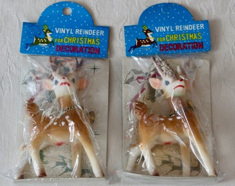 Vintage Rubber Reindeer Vinyl Reindeer Japan New Old Stock