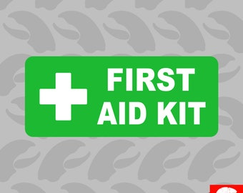 First Aid Kit Inside Sticker Self Adhesive Vinyl emergency rescue - C088