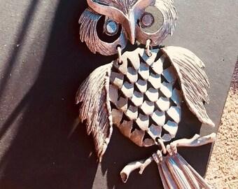 1970 vintage owl pendant