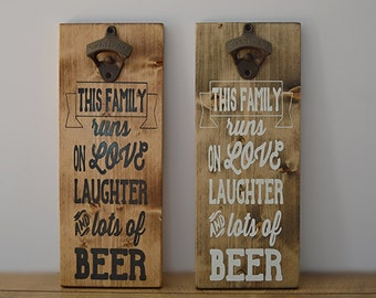 Beer Bottle Opener- Bottle Opener- Family- Craft Beer- Beer Lover Gift- Craft Beer Gift-