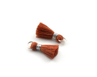Small PomPoms 2 set of 2 cm / rust P146 FM