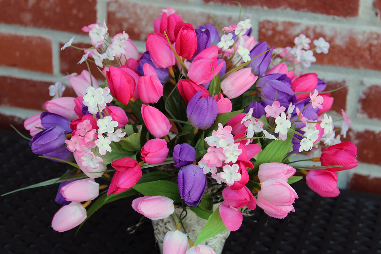 Spring Flower Arrangement Tulip Centerpiece Spring