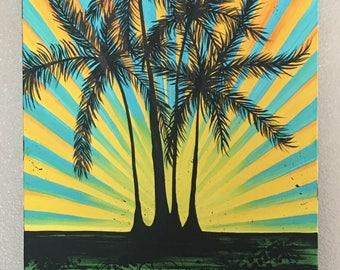 Palm Tree Sun Burst
