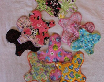 SALE! STARTER Pack of Washable Pads -  PUL backed with flaps