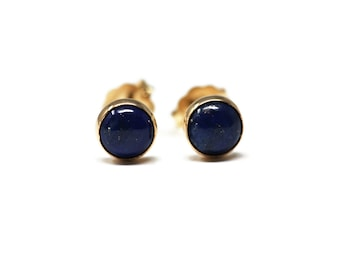 Lapis - lazuli and Gold Filled 5mm Stud Earrings