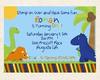 Dinosaur Invitation Printable