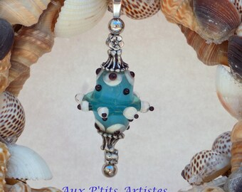 """""""lampwork"""" nail 1 Lampwork bead pendant"""