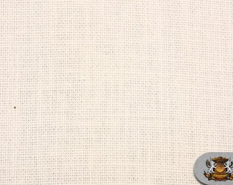 "Burlap Jute IVORY Fabric / 58"" / Sold by the yard"