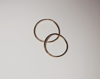 THIN GOLD ARCH ring / 14k solid yellow gold stacking ring / 14k gold thin petal ring / minimalist gold ring / solid gold thin band