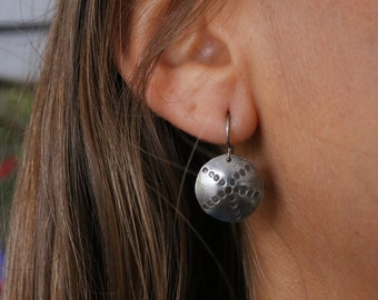 Antiqued Sterling Silver Urchin Earrings