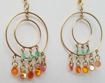 Tropical Double Hoop Earrings