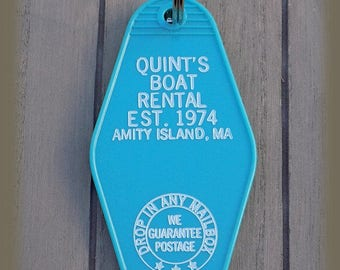Jaws Quint's Boat Rental Vintage style  Keychain