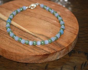 Shimmering Green and Blue Bracelet, Bracelets, Jewelry, Summer Jewelry, Summer Bracelets