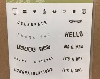Stampin' Up! ANY OCCASION  Retired Stamp Set Photopolymer