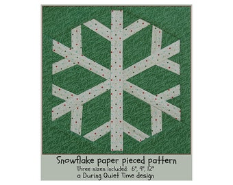 Snowflake Paper Pieced Pattern