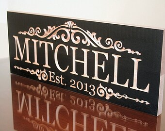 Personalized Last Name Sign, Last Name Established Sign, Personalized Family Sign, Personalized Sign, Benchmark Custom Signs, Maple LM