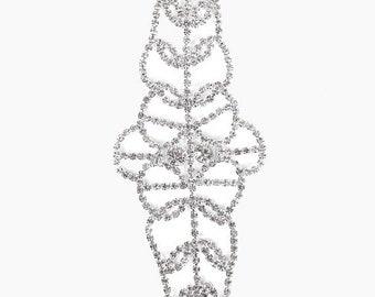 ON SALE Floral Crystal Rhinestone Bracelet
