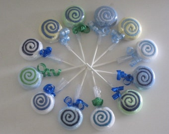 12-Piece Washcloth Lollipops
