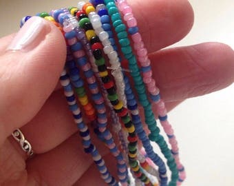 Pack of beaded anklets
