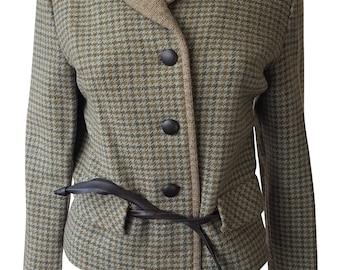 LONDON MAID Vintage Tweed Green Wool Jacket