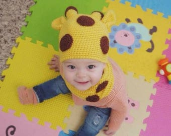Giraffe hat Crochet giraffe Baby giraffe hat Giraffe photo prop Crochet giraffe hat Newborn giraffe hat Crochet animal hat Animal hat