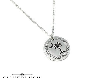 South Carolina Sterling Silver Necklace - Palmetto Tree Jewelry