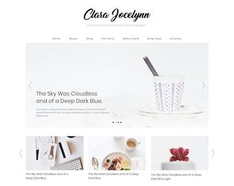Minimalist Wordpress Theme, WordPress Clean Blog - Clara Wordpress Theme - Feminine, Woocommerce & Easy to customize