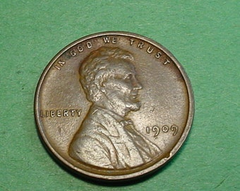 1909-P V.D.B.  Lincoln Wheat  Cent Extra Fine - First year of Issue  <>ET0019